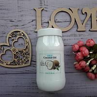 Пищевое нерафинированное кокосовое масло Organic Coconut Oil Extra Virgin, холодный отжим, 0.5 л, фото 1
