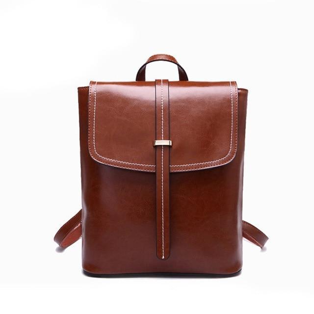 d7c28b3d0d49 Рюкзак сумка трансформер женский из экокожи с пряжкой (коричневый) -  Интернет-магазин «