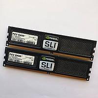 Комплект оперативной памяти OCZ SLI-Ready DDR2 4Gb (2Gb+2Gb) 800MHz PC2 6400U CL5 (OCZ2N800SR4GK) Б/У, фото 1