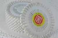 40 шт./наб. Булавки декоративные белые (длина 4 см)  1 наб.