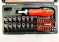 Отвертка реверсивная с комплектом насадок (48 ед) Intertool HT-0441