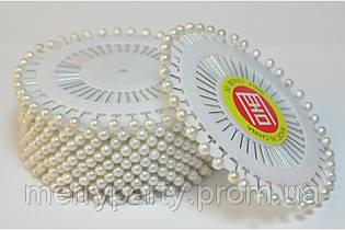 Булавки декоративные белые 40 шт./наб. (длина 3,5 см)  1 наб.
