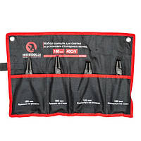 Набор щипцов (4шт) для снятия и установки стопорных колец 180мм, 40CrV, фосфатированные. INTERTOOL HT-7015, фото 1