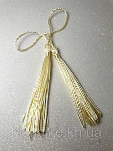 Кисточки декоративные из ниток, Шёлковые 9 см, цвет - Бежевый