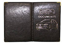 Обложка Антрацит для водительского удостоверения из кожзаменителя под страховку, фото 1