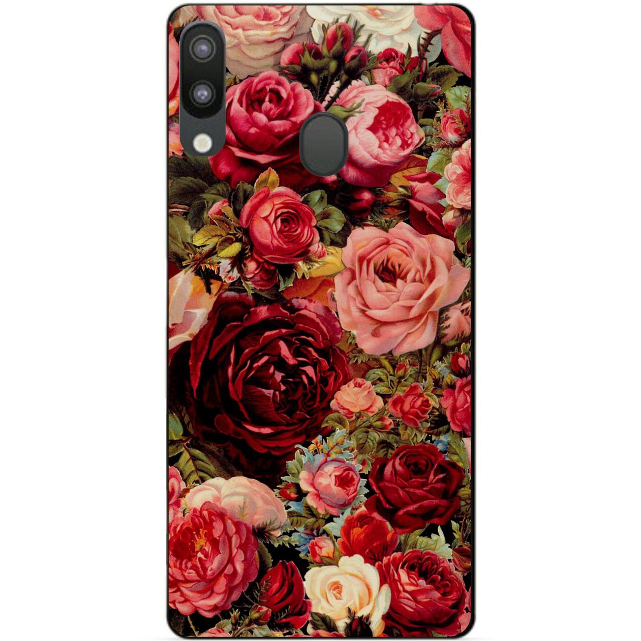 Чехол силиконовый для Samsung M20 с рисунком Розы