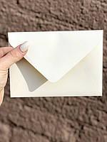 Подарочный конверт C6 из плотной крафт бумаги айвори крем