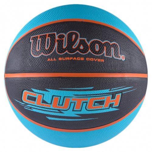Мяч баскетбольный Wilson CLUTCH BBALL размер 7, резиновый, для игры на улице-в зале (WTB1430XB)