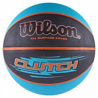 Мяч баскетбольный Wilson CLUTCH BBALL размер 7, резиновый, для игры на улице-в зале (WTB1430XB), фото 1