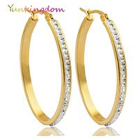 Серьги-кольца для женщин большие круглые из нержавеющей стали 43мм