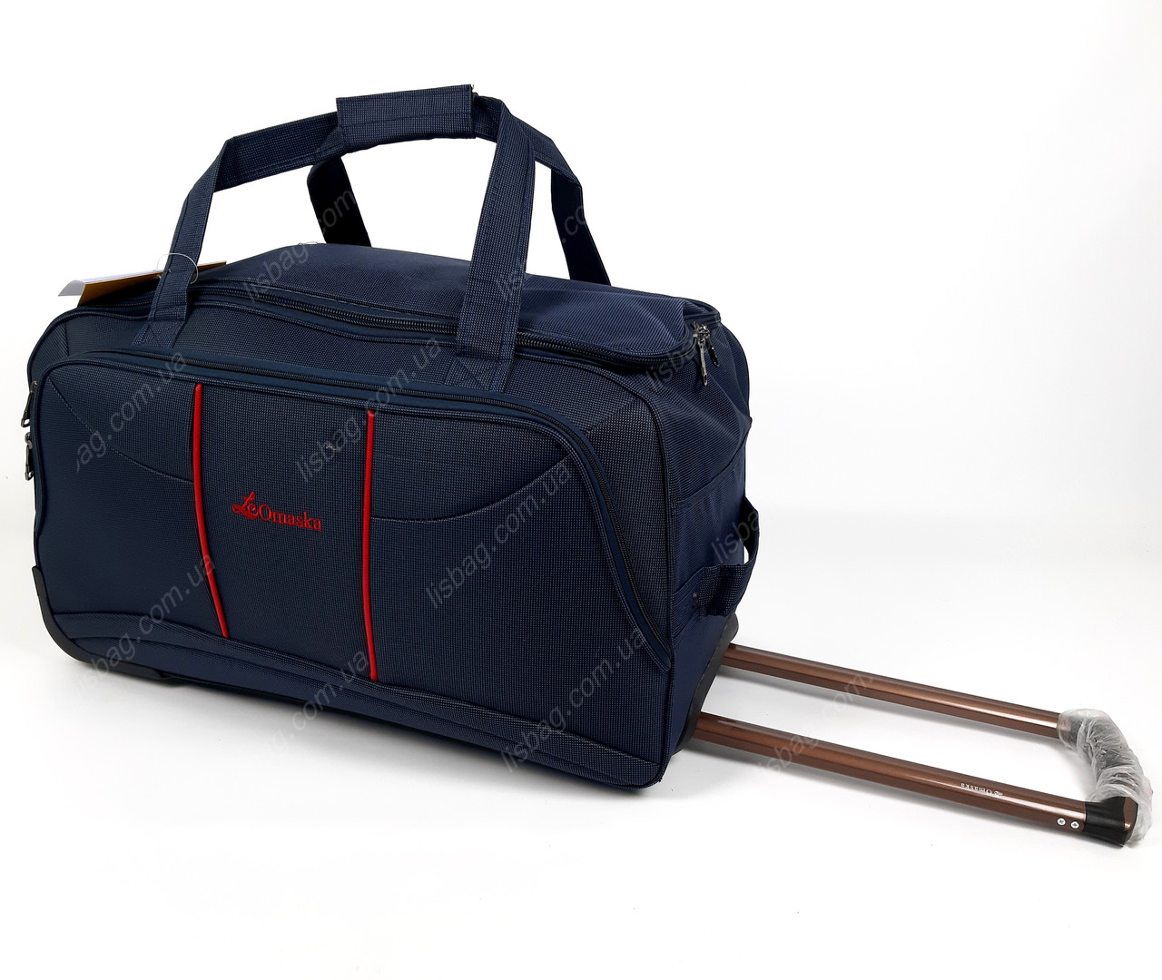 2e16051d6e51 Средняя сумка Omaska на 3х колесах прочная L (60 л) Синяя (57*33*32 ...