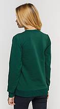 Свитшот женский, темно зеленый под принт, фото 2