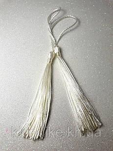 Кисточки декоративные из ниток, Шёлковые 9 см, цвет - Белый