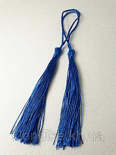 Декоративные кисточки из ниток, шёлковые, 9 см, Цвет: Синий