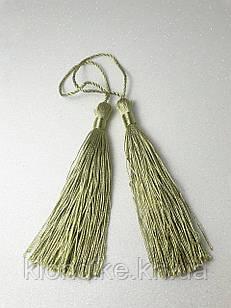 Декоративные кисточки из ниток шёлковые 9 см, цвет - Хаки