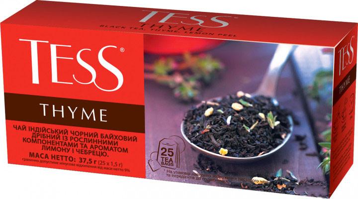 Чай черный с тимьяном TESS Thyme 25 пак.