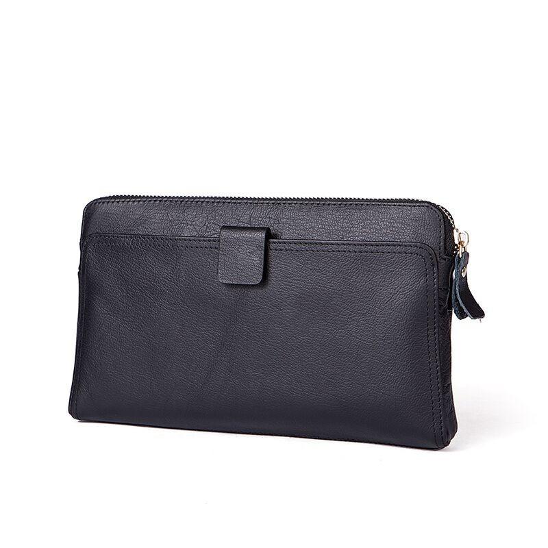9f1418504fce Сумка клатч кошелек мужской из натуральной кожи (черный) - Интернет-магазин  «VINGO
