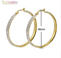 Серьги-кольца для женщин большие круглые из нержавеющей стали 48мм