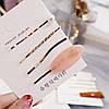 Шпильки для волосся, набір 4 шт., колір білий , невидимки для волосся, затискачі, фото 2