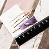 Шпильки для волосся, набір 4 шт., колір білий , невидимки для волосся, затискачі, фото 3