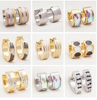 Серьги-кольца для женщин из нержавеющей стали 48мм