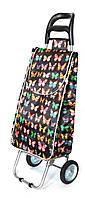 Хозяйственная сумка - тележка с железными колесами Shoping black butterfly