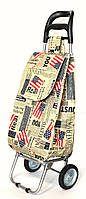 Хозяйственная сумка тележка Xiamen с железными колесами Shoping America (0095)