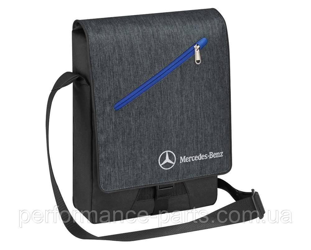Cумка с наплечным ремнем Mercedes-Benz Shoulder Bag Grey-Black, артикул B66958079