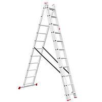 Лестница алюминиевая 3-х секционная универсальная раскладная INTERTOOL LT-0311, фото 1