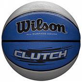 Мяч баскетбольный Wilson CLUTCH 295 BSKT размер 7, резиновый, для улицы и зала (WTB1440XB0702)