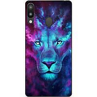 Бампер силиконовый для Samsung M20 с рисунком Космический лев