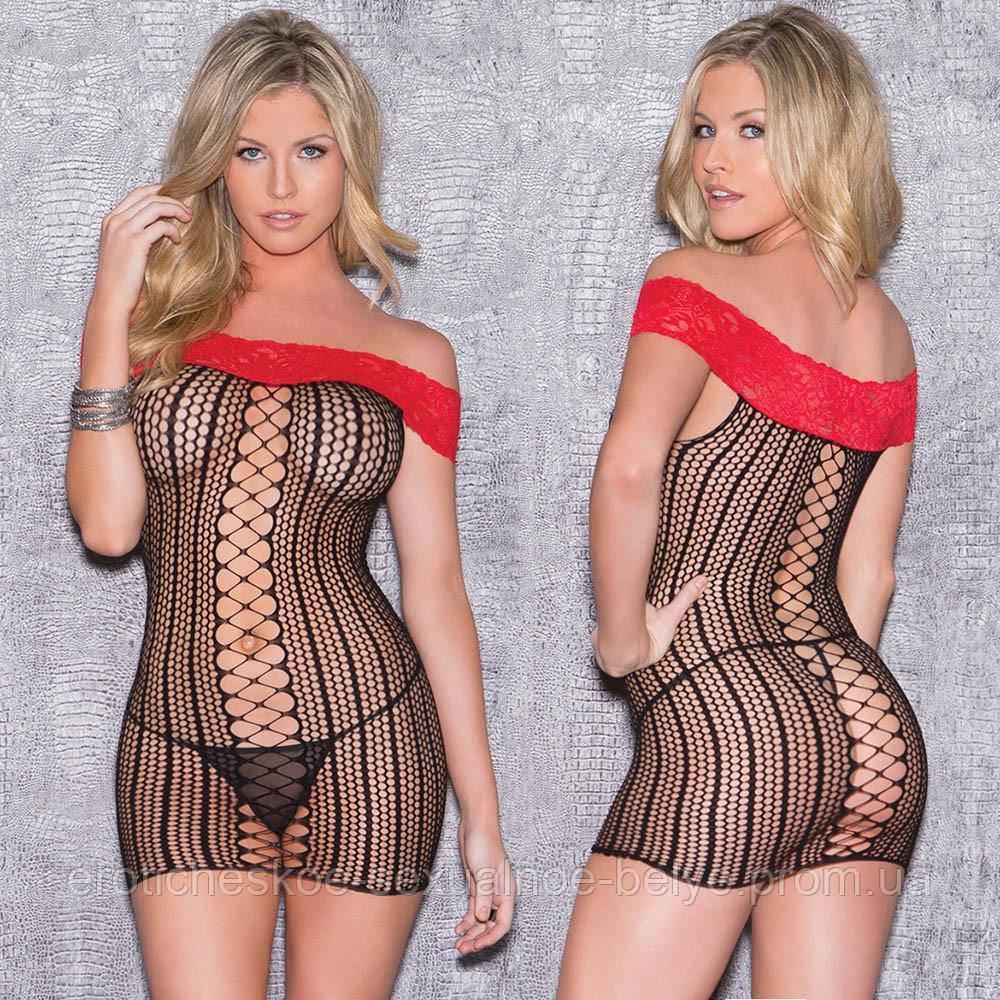 Сетка-платье / Эротическое белье / Сексуальное белье