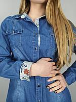 Женская джинсовая рубашка,размер:M,L,XL,Турция