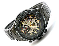 Мужские часы Winner Avio механика с автозаводом, цвет корпуса черный