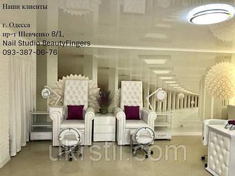 Педикюрное кресло Трон Queen, Стул для мастера педикюра  2118