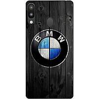 Бампер силиконовый для Samsung M20 с рисунком BMW