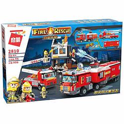 "Конструктор Enlighten Brick 2810 Fire Rescue ""Пожежна техніка"" 996 деталей."