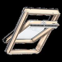 Мансардное окно VELUX Стандарт GZL1051, ручка сверху, дерево/лак, 78х118, фото 1
