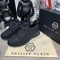 Мужские кроссовки Philipp Plein Runner The Masterplan Black, Реплика, фото 1