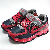 583216b0 Детские светящиеся кроссовки с led подсветкой подошва USB красный 35р.