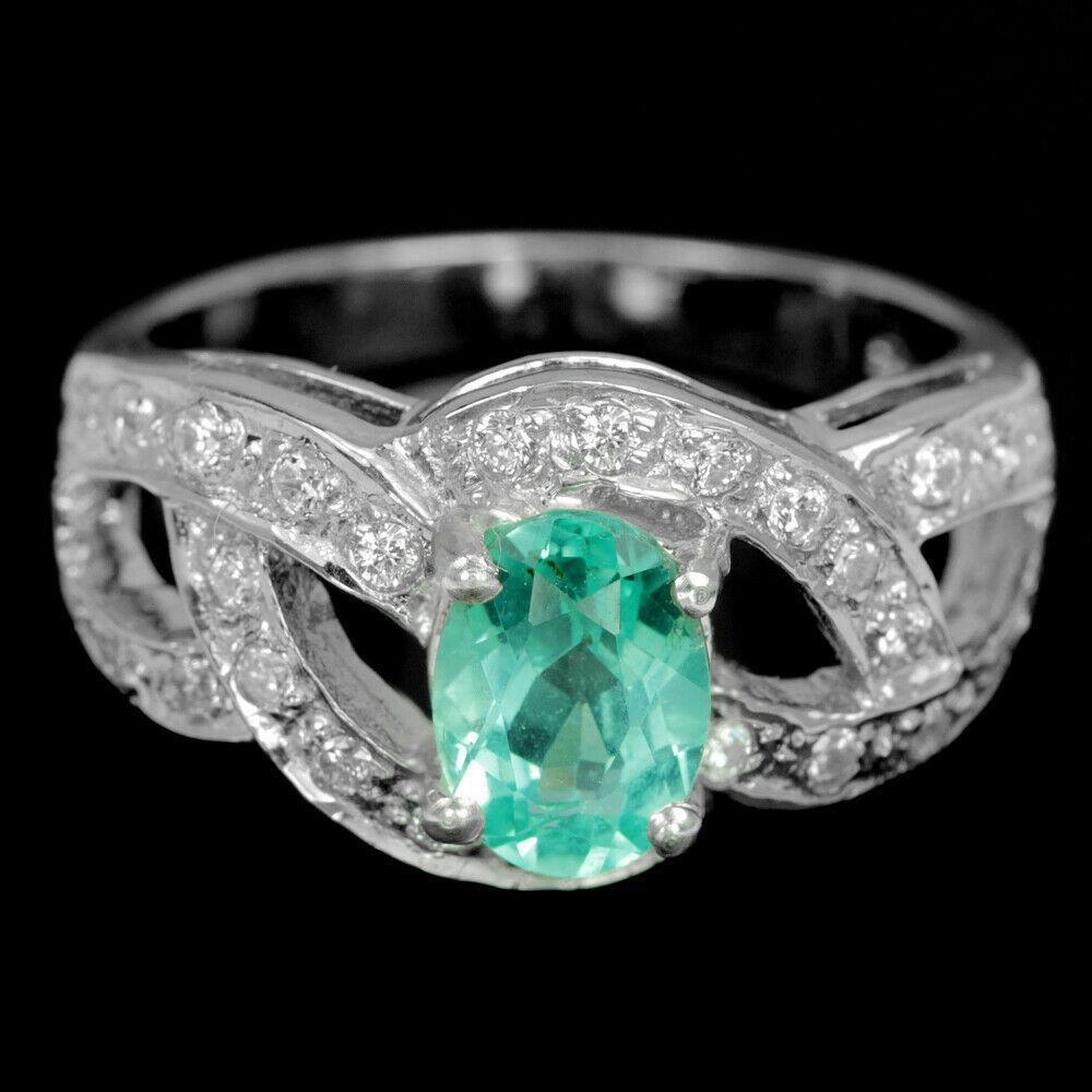 Апатит зеленый, серебро 925, кольцо, 1626КЦА