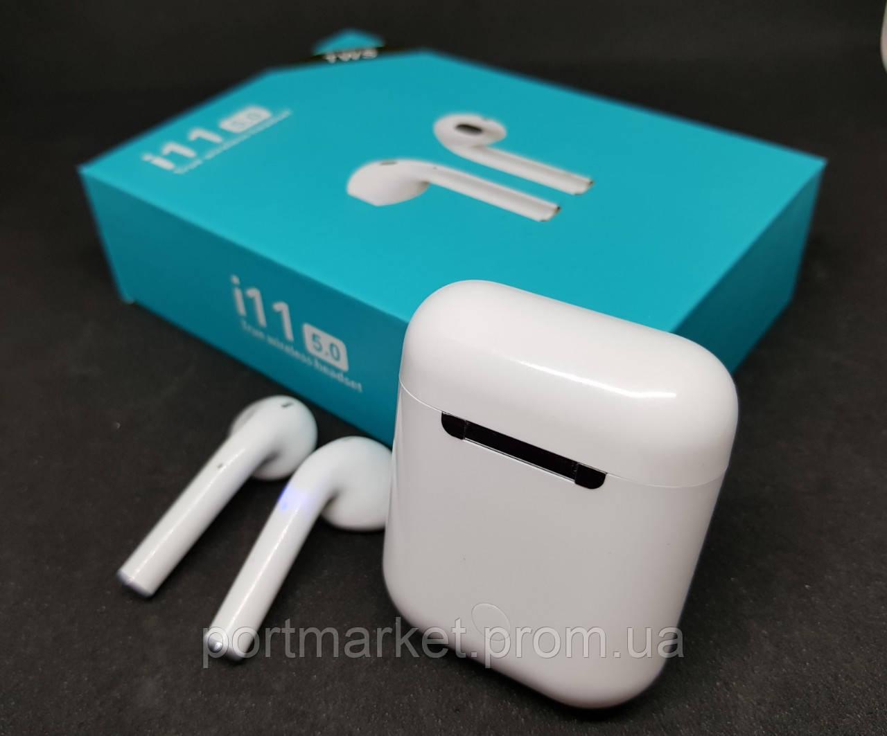 Наушники сенсорные беспроводные Bluetooth i11 TWS наушники блютуз