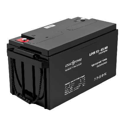 Аккумулятор AGM LPM 12 - 65 AH (12Вольт, 65Ач), фото 2