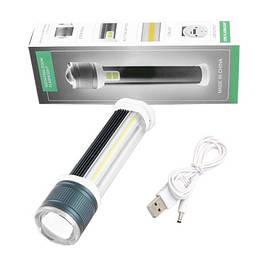 Ліхтар Power Bank Small Sun X1-T6+COB (white+red), ЗУ micro USB, zoom