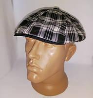 Фуражка/кепка восьмиклинка (хулиганка) мужская из тонкой ткани костюмной в клетку.