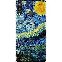 Силиконовый чехол для Samsung M20 с рисунком  Лунная Ночь