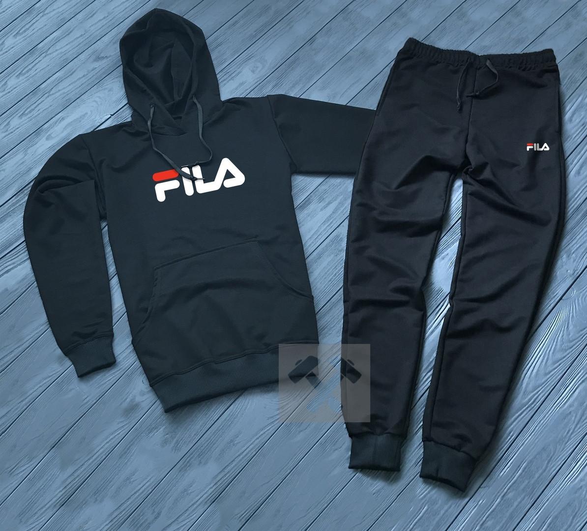 a226d998 Спортивный костюм Fila, черный, цена 770 грн., купить в Хмельницком —  Prom.ua (ID#937133428)