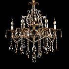 Классическая люстра-свеча на 6 лампочек СветМира VL-2117/6 (золотая), фото 2
