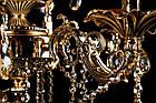Классическая люстра-свеча на 6 лампочек СветМира VL-2117/6 (золотая), фото 3