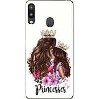 Силиконовый чехол для Samsung M20 с рисунком Принцесски